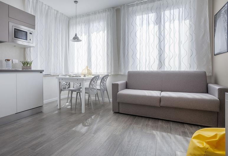 Italianway - Cadorna 10 flat A, Milaan, Appartement, 1 slaapkamer, Woonruimte