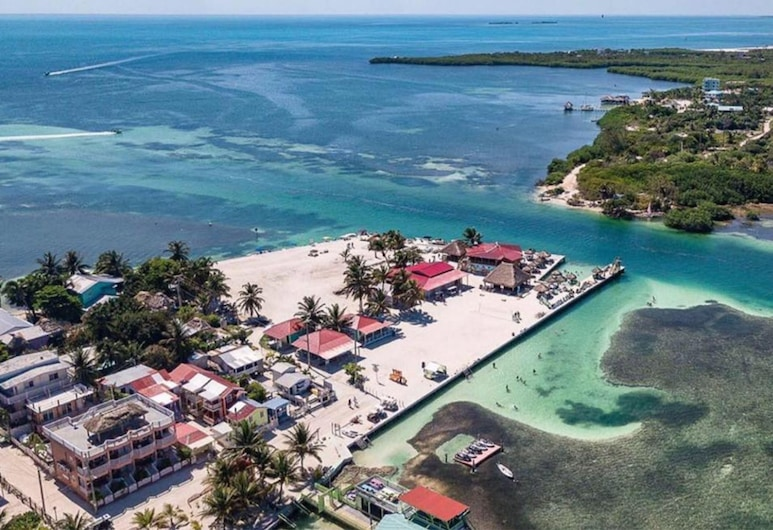 China Town Hotel, Caye Caulker, Aerial View