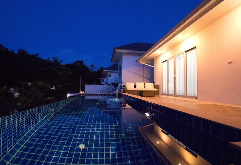 藍浪崇文酒店, 蘇梅島, 3 Bedrooms Villa, 陽台