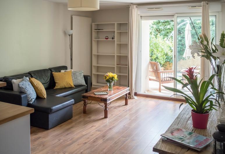 Appartement de Charme une Chambre avec Jardin, Montpellier, Apartment, 1 Bedroom, Living Area