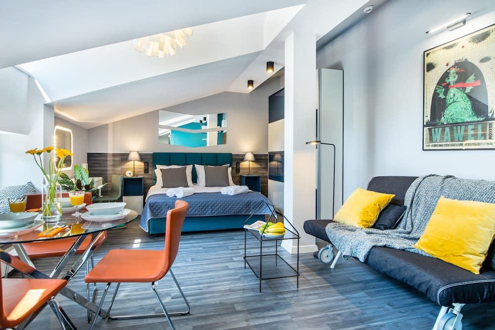 Deluxe-Apartment, 1Queen-Bett und Schlafsofa, Nichtraucher - Zimmer