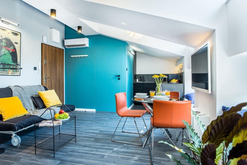 Deluxe-Apartment, 1Queen-Bett und Schlafsofa, Nichtraucher - Wohnbereich