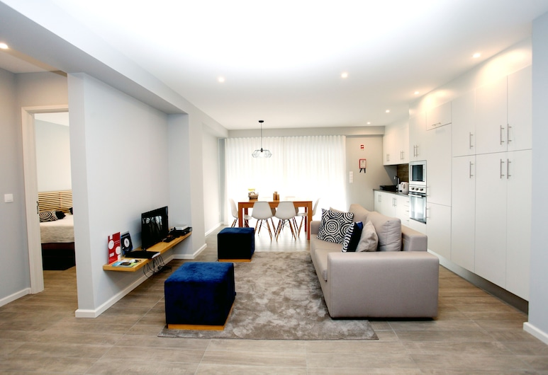 Apartments 27 Mae de Deus by Green Vacations, Ponta Delgada, อพาร์ทเมนท์, 1 ห้องนอน, ระเบียง (Ground Floor), ห้องนั่งเล่น