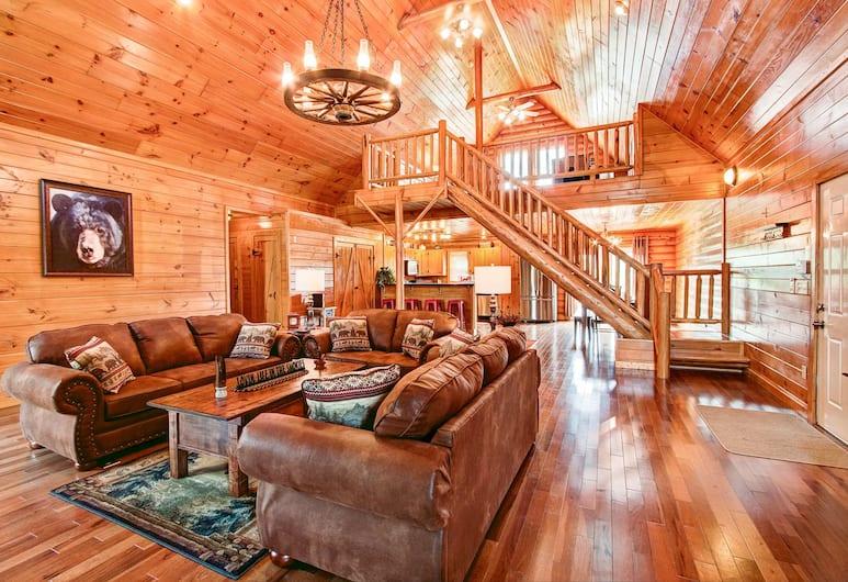 Big Bear Lodge 3 Bedroom Cabin, Sevierville, Ferienhütte, 3Schlafzimmer, Wohnzimmer