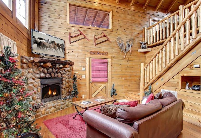 Got Moose 1 Bedroom Cabin, Sevierville, Ferienhütte, 1 Schlafzimmer, Wohnzimmer