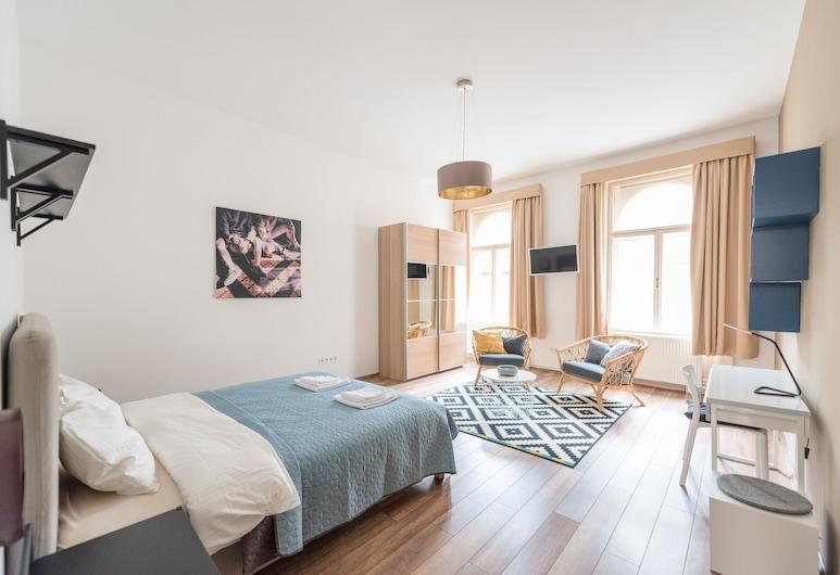 Oasis Apartments Corvin I, Budapeszt, Apartament typu Deluxe, 2 łóżka queen, dla niepalących, Pokój