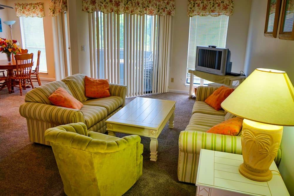 Condo, 2 Bedrooms, Balcony (Golf Glenn Villas #D302) - Living Area