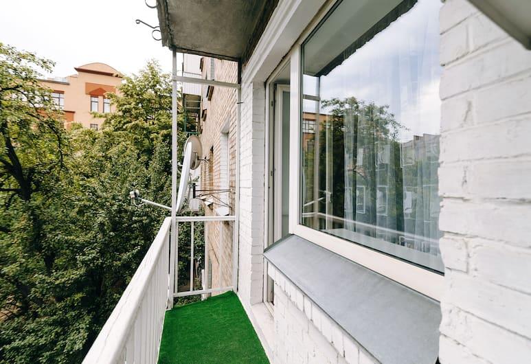 CityApartments Kyiv Podol, Kiev, Classic Apart Daire, 1 Yatak Odası (Naberezhno-Lugovaya st. 7B), Balkon