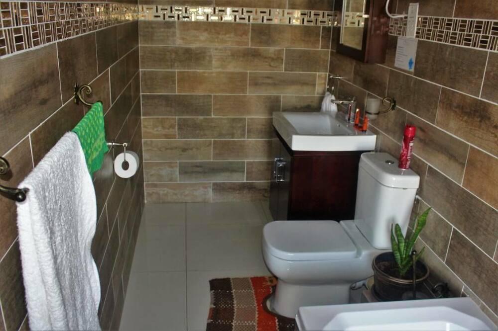ダブルまたはツインルーム ダブルベッド 1 台 バリアフリー 禁煙 - バスルーム