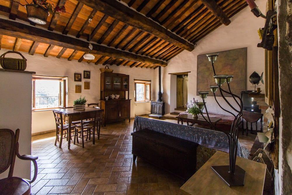Appartement Familial, 1 chambre, vue colline (Piazza della chiesa, 14) - Salle de séjour