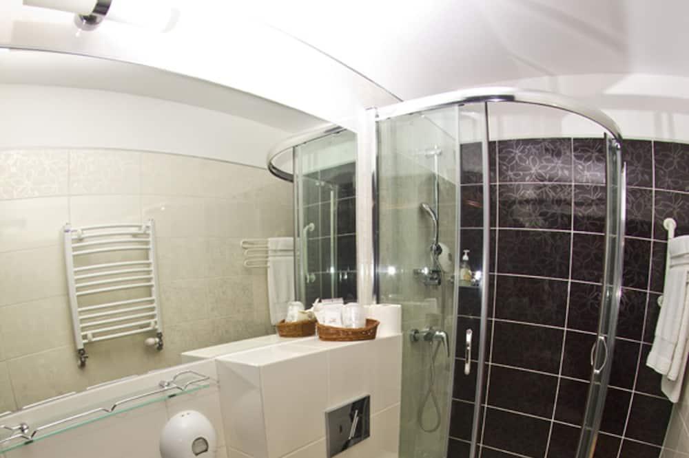 Ekonomiskās klases vienvietīgs numurs, vannasistaba numurā - Vannasistaba