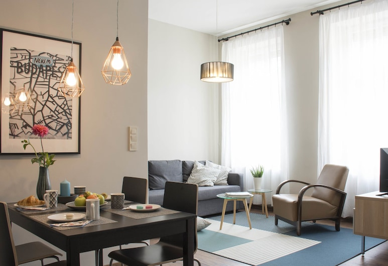 Fufu Design Apartment, Budapest, Leilighet – deluxe, 2 soverom, ikke-røyk, Stue