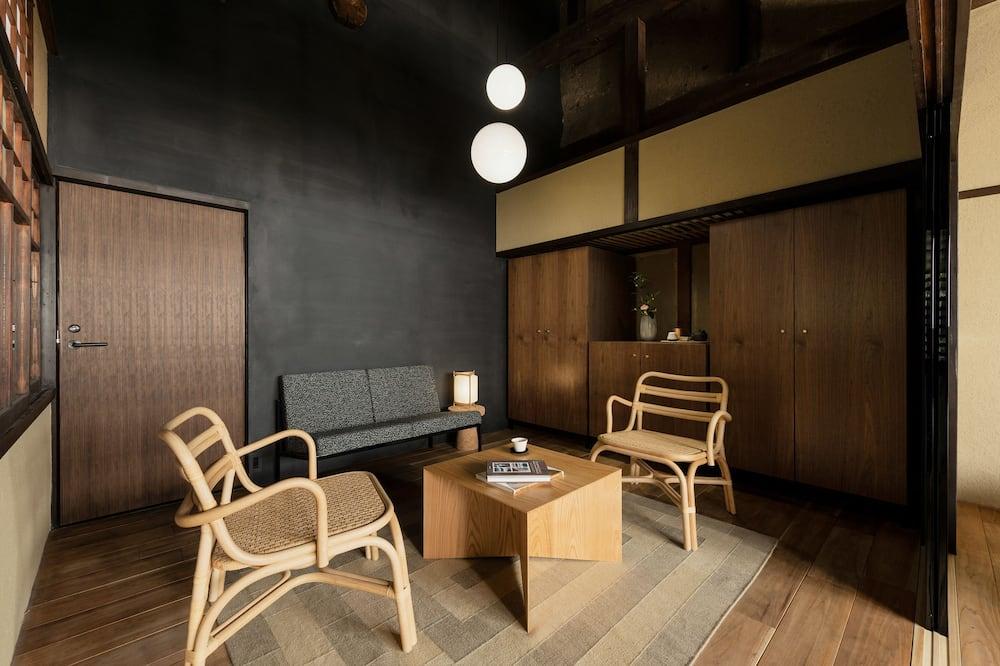 غرفة ديلوكس بسريرين منفصلين - منطقة المعيشة