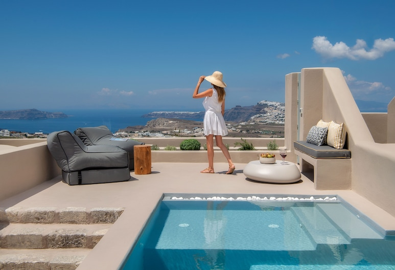 HALCYON DAYS SUITES, Santorini, Alkyone Cave Suite, with Private Pool, Terrace/Patio
