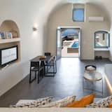 Alkyone Cave Suite, with Private Pool - Stue