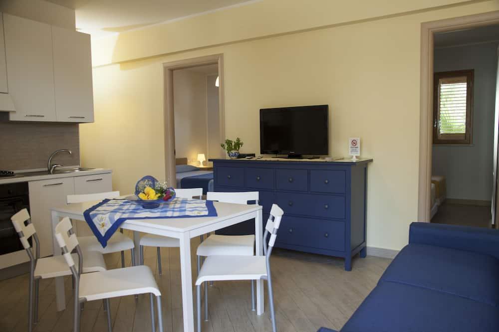 Апартаменты, 1 спальня, терраса - Зона гостиной