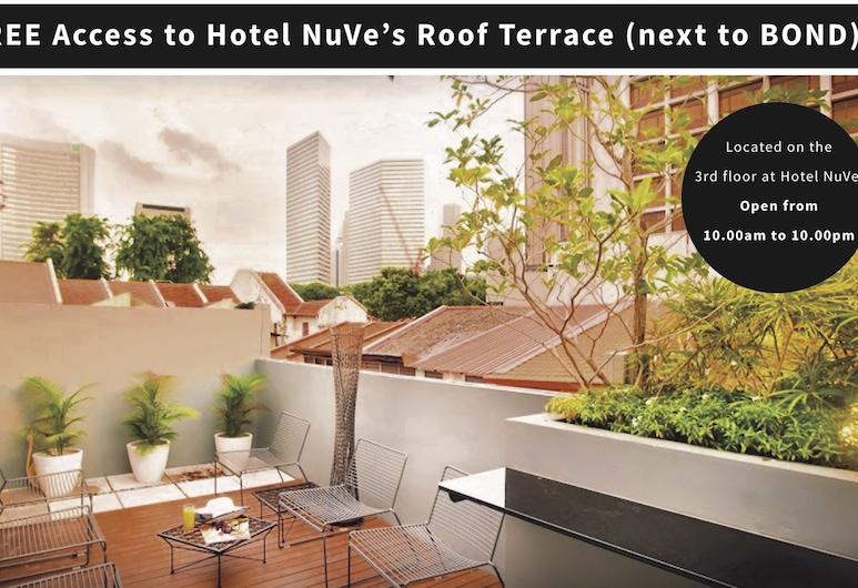 Bond Boutique Capsule Hotel at Bugis - Hostel, Singapore, Terrace/Patio