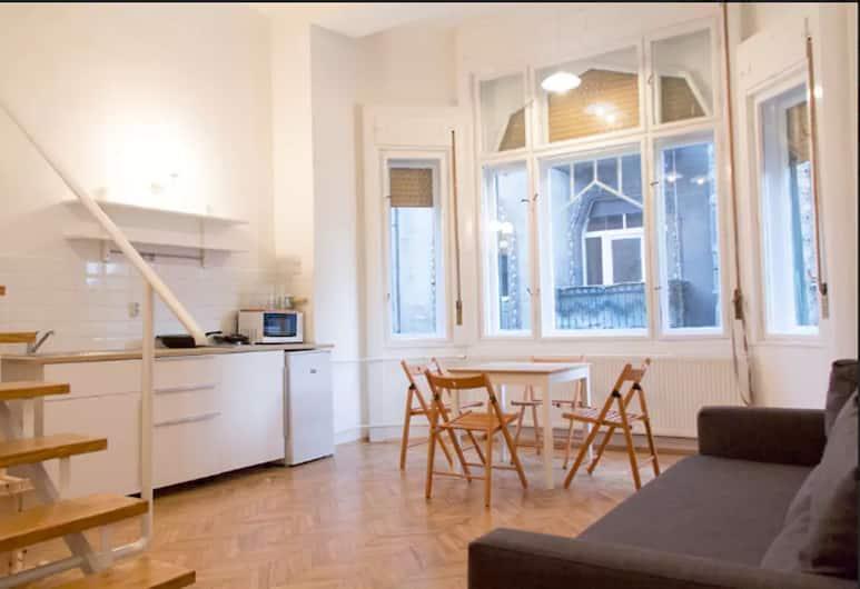 Incredible Ernesto I, Budapešť, Štúdio typu City, 1 dvojlôžko s rozkladacou sedačkou, Obývacie priestory