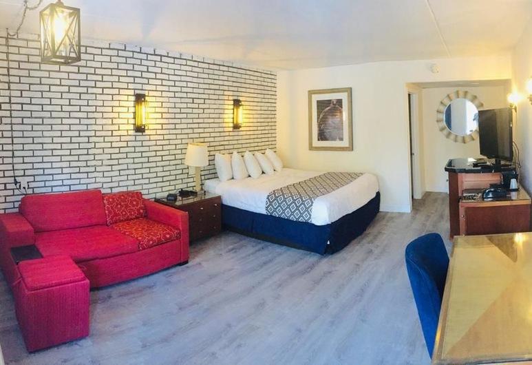Penn Lodge Hotel & Suites, Feasterville-Trevose, Suite familiar, 1 cama de matrimonio grande con sofá cama, no fumadores, Habitación