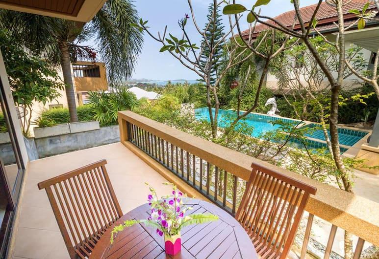 班拉威別墅酒店, 蘇梅島, 3-Bedroom Villa with Sea View, 陽台