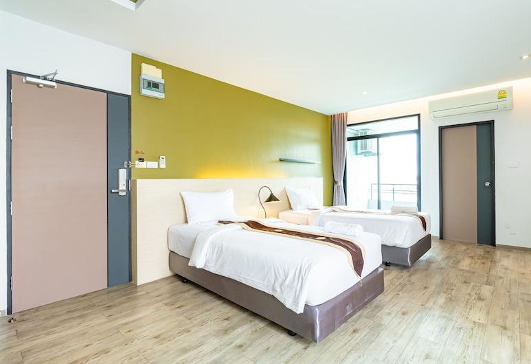 Thong Manee Apartment, Hatjajus, Liukso klasės dvivietis kambarys (2 viengulės lovos), Svečių kambarys