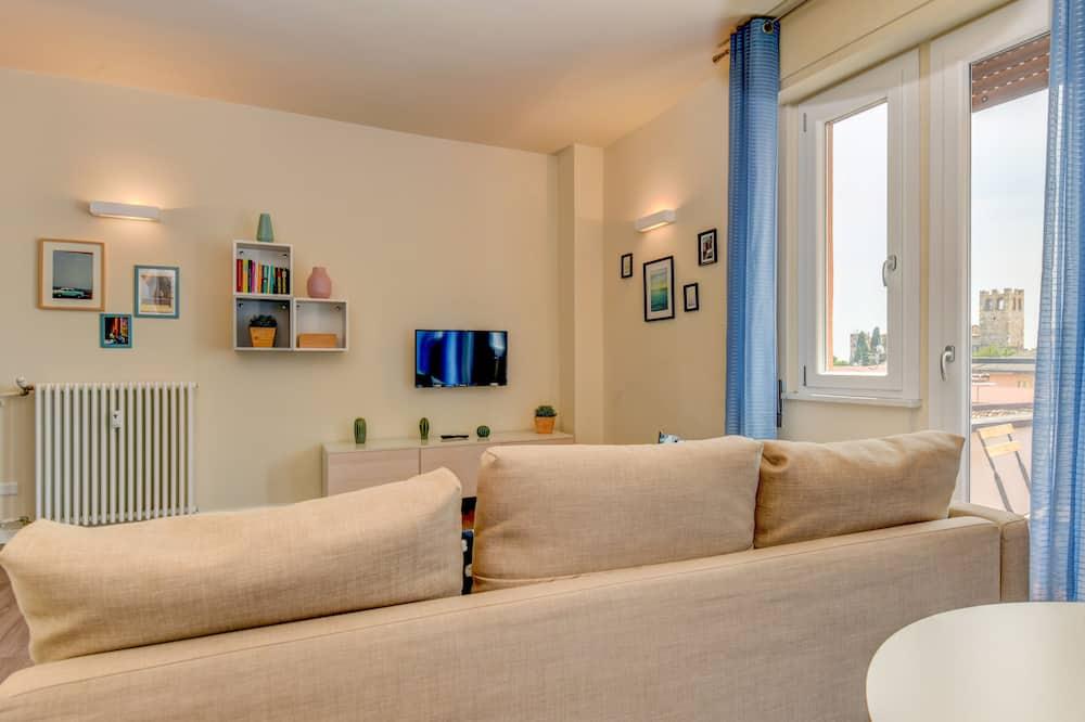 Deluxe-Penthouse, 2Schlafzimmer, 2 Bäder - Wohnzimmer