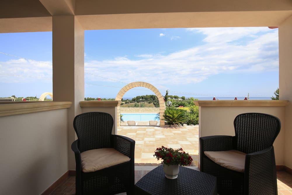 Habitación doble, acceso a la piscina - Terraza o patio