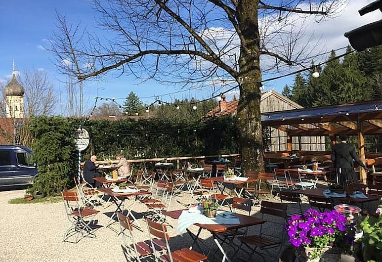 Landgasthof Fischbach, Wackersberg, Obiekty restauracyjne na zewnątrz