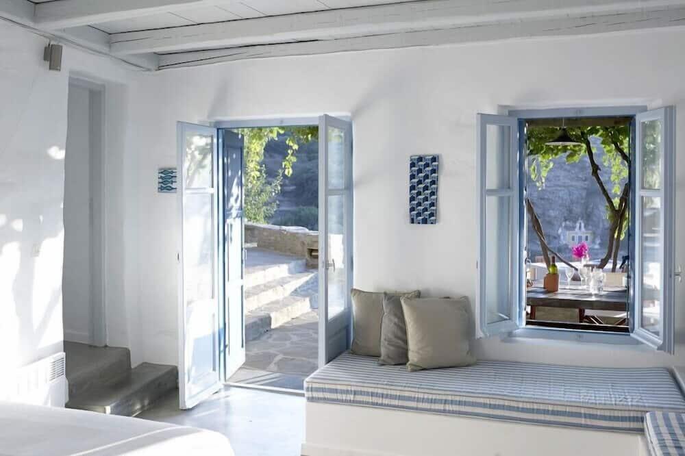 Villa, piscine privée (Lefkothea) - Coin séjour