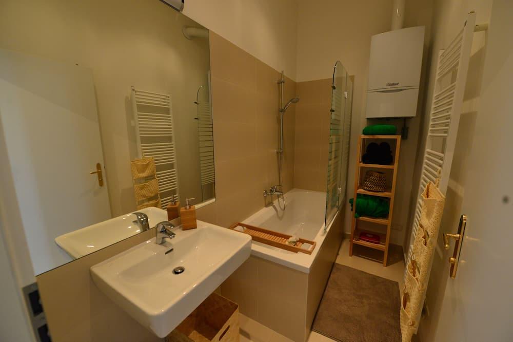 家庭公寓, 1 張加大雙人床和 1 張沙發床, 非吸煙房 - 浴室