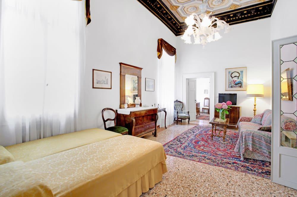Dvojposchodový apartmán typu Gallery, 4 spálne - Obývacie priestory