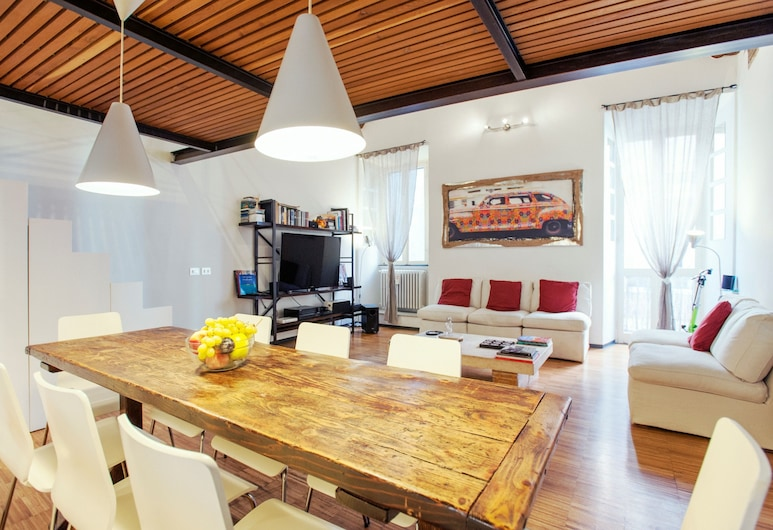 Portico - WR Apartments, Rome, Apartment, 2 Bedrooms, Living Area
