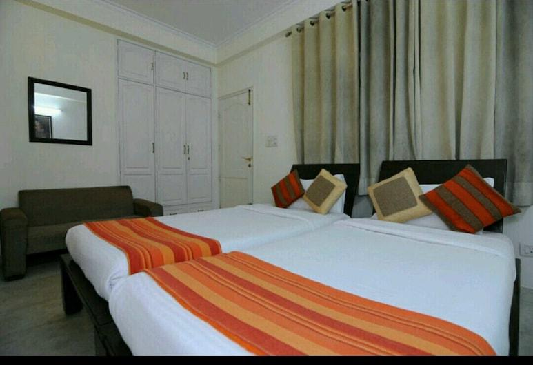 Mehra Residency at the Airport, New Delhi, Eenvoudige Twin kamer, 2 eenpersoonsbedden, roken, Kamer