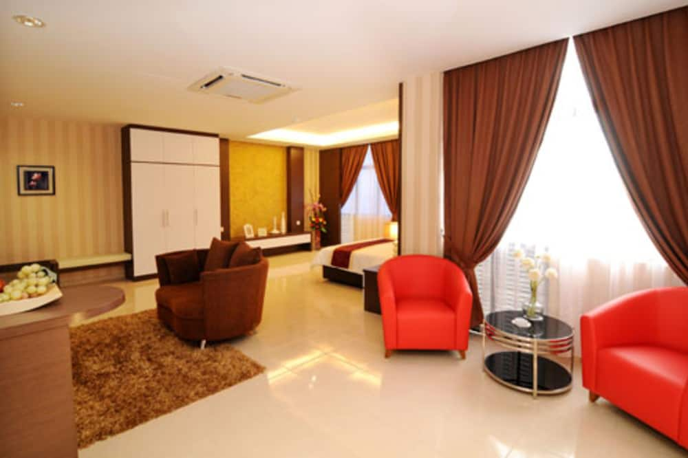 Apartmá typu Executive - Výhled na ulici