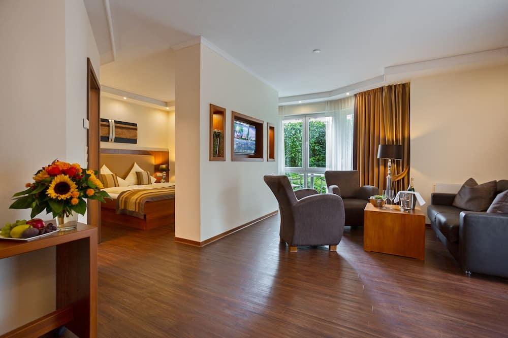 Двухместный номер «люкс» с 1 двуспальной кроватью - Зона гостиной