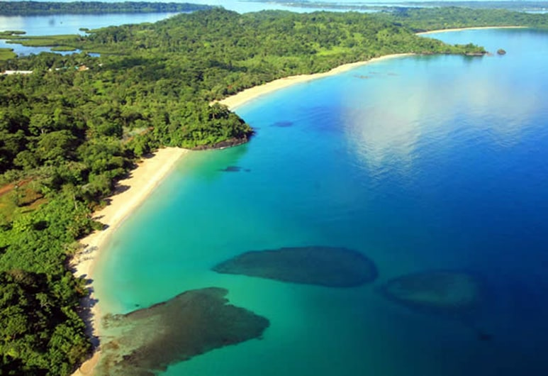 Hostal Bastimentos, Isla Bastimentos, Pogled iz zraka