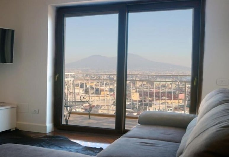 MARE&STELLE B&B, Naples, Exclusive Double Room, Balcony, Bay View, Living Room