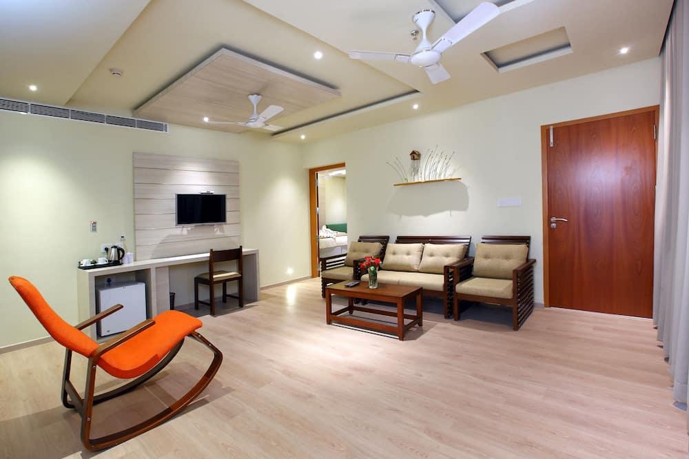 Suite Deluxe, 1 cama King size, con acceso para silla de ruedas, para no fumadores - Sala de estar