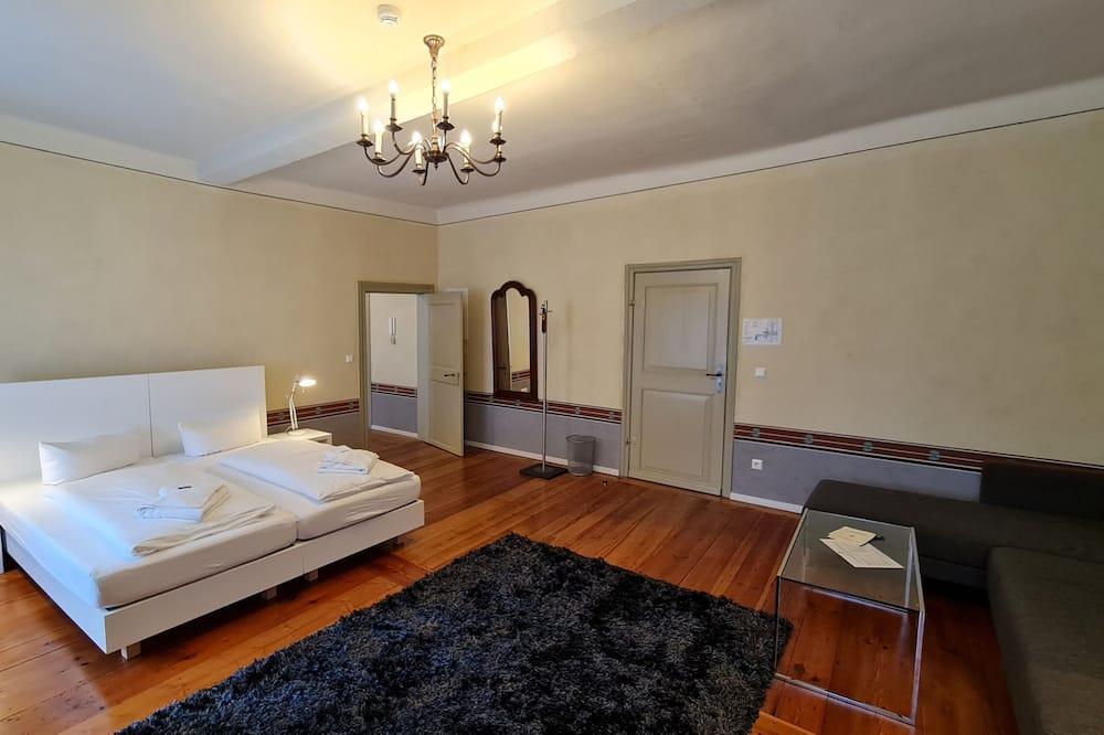 Mieszkanie Comfort, 2 sypialnie, kuchnia, antresola (Gruen) - Powierzchnia mieszkalna