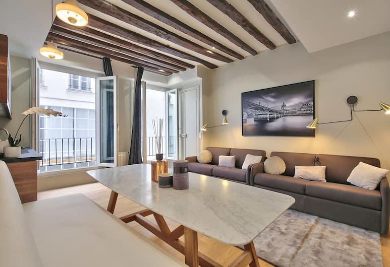70 - 道地巴黎公寓飯店, 巴黎, 公寓, 3 間臥室, 客廳