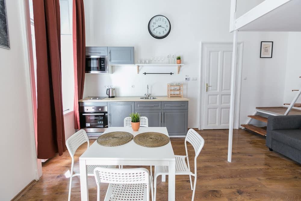 都會公寓, 4 間臥室 - 客房內用餐