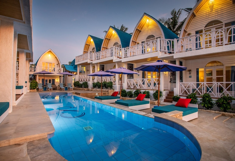 Santorini Beach Resort, Gili Trawangan, Chambre Double Deluxe, accès piscine, Chambre