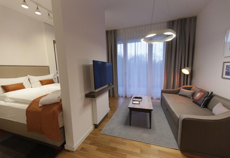HighPark by Palmira, Berlino, Monolocale Deluxe, 1 letto queen, Area soggiorno