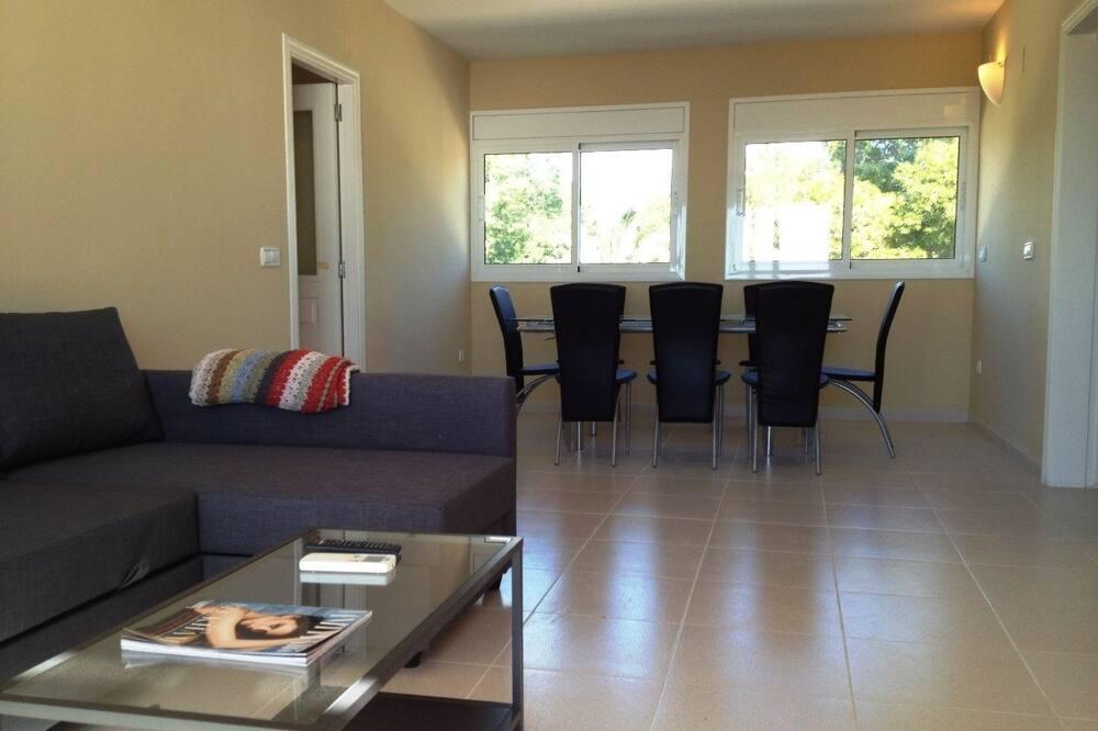 Penthouse, 4 slaapkamers, privézwembad, Uitzicht op het strand - Woonruimte