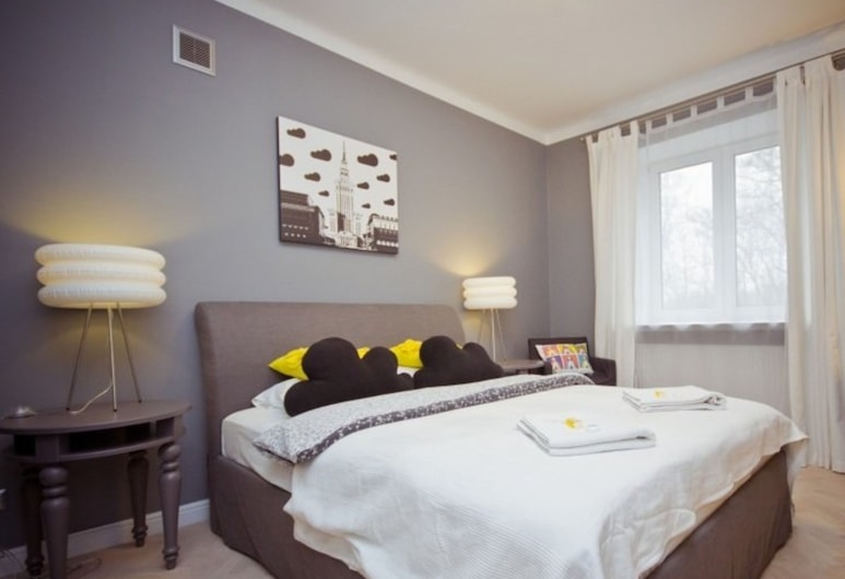 P&O Apartments Bednarska, Varsovie, Appartement Confort, 1 grand lit et 1 canapé-lit, Chambre