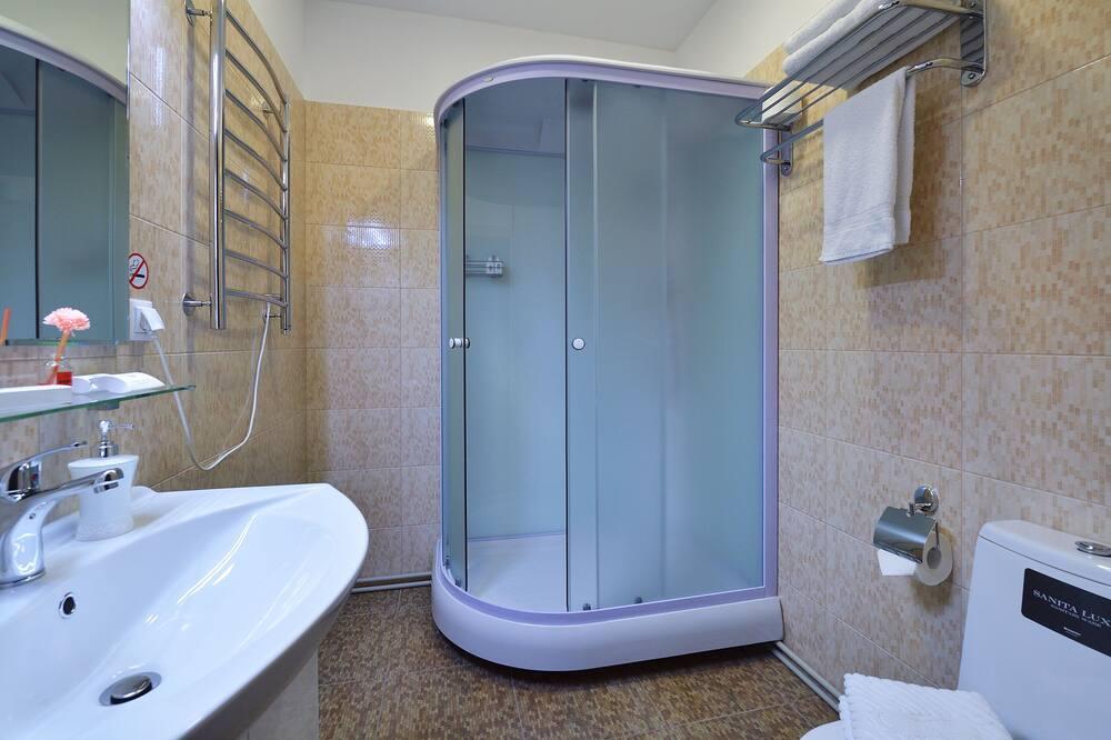 Dvivietis kambarys su patogumais, 1 didelė dvigulė lova - Vonios kambarys