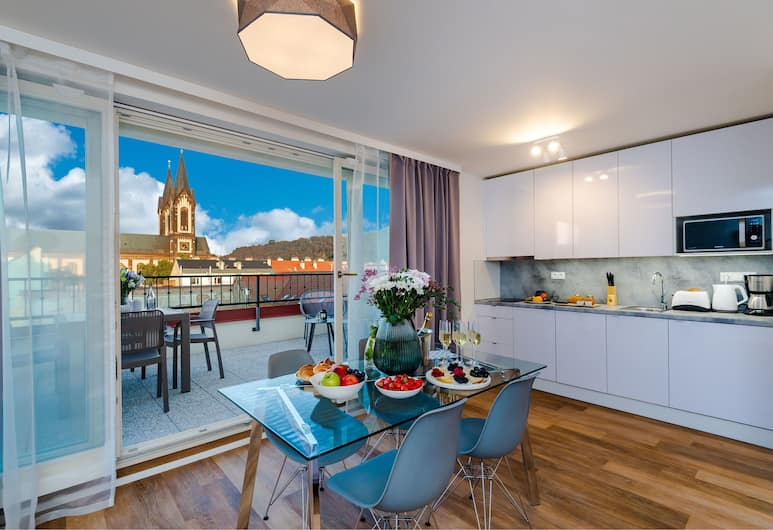 Seven Wishes Boutique Residence, Prag, Panoramic-Apartment, Zimmer