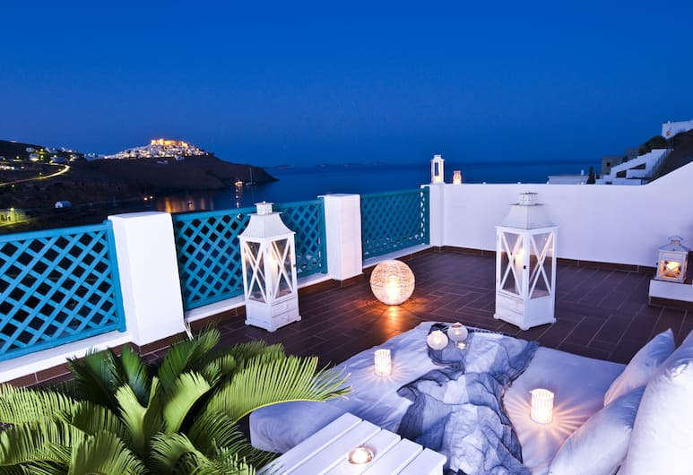 Fildisi Boutique Hotel, Astypalaia, Deluxe Studio Suite, Sea View, View from room
