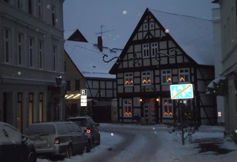 Pension Altstadt Cafe, Havelberg, Pohľad na hotel – večer/v noci