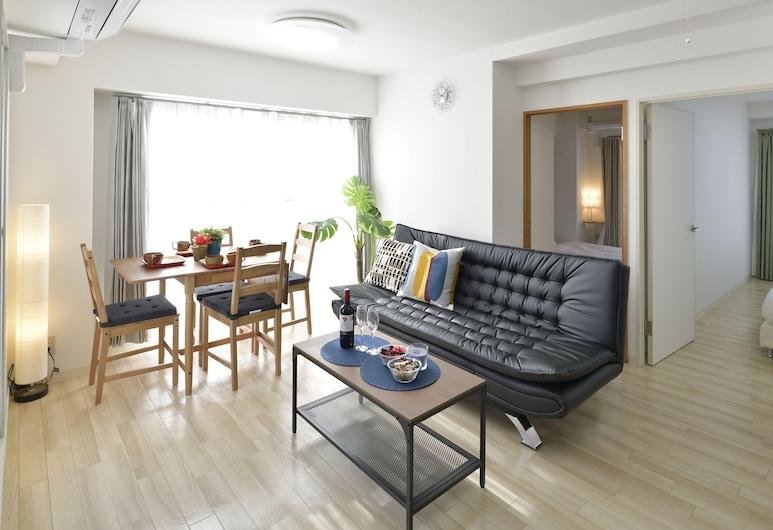 제이프라이드 우에마치다이 콘도, 오사카, 베이직 아파트, 침실 2개, 금연, 시내 전망 (502), 거실 공간